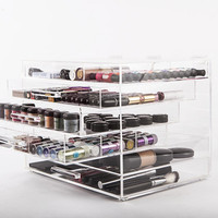 Clear Cosmetics Organizer and Makeup Storage Box by CosmoCube