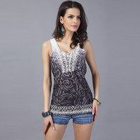 Hot Beach Summer Comfortable Bralette Sexy Stylish Embroidery Sleeveless Tops Vest [10239097875]