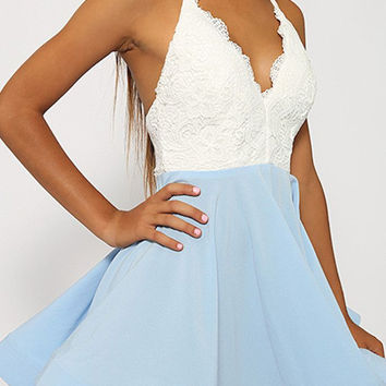 Just Swing It Blue Dress by LOVECAT