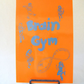 Brain Gym Orange Book Vintage Denninson Educational Kinesiology Teacher Learning Exercise Disability Students Special Education Therapy