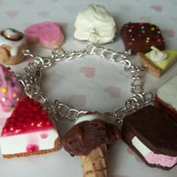 sweet treats polymer clay charm bracelet