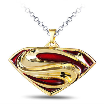 Gift Shiny Jewelry Stylish New Arrival Hot Sale Superman Pendant Men Necklace [6526579075]