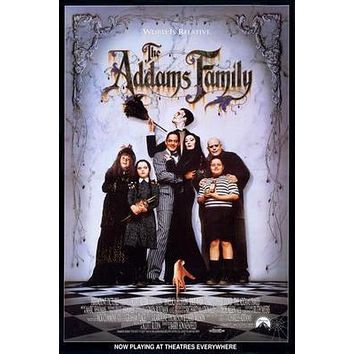 Addams Family Movie Poster Standup 4inx6in