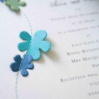 Do It Yourself / Stitched flowers or other elements on a menu or invitation