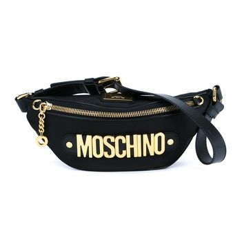 Black And Gold Bum Bag - MOSCHINO