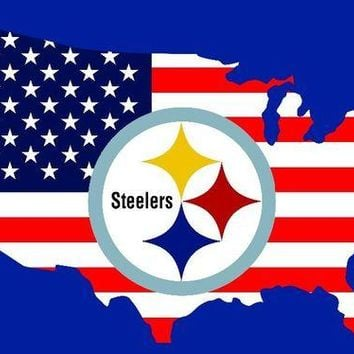 DCCKH6B Pittsburgh Steelers 90x150cm polyester digital print American map flag banner with 2 Metal Grommets 3x5ft