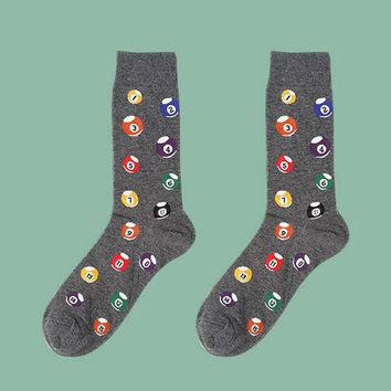 Hot 39-44 Socks Brand Women Men's Novelty Socks Combed Cotton Christmas Gift Chausettes Homme Animal Puzzle Design Funny Socks