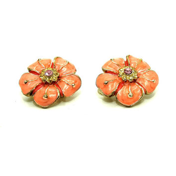 Vintage clip on earrings, Vintage clip on earrings costume jewelry,  Earrings, Flower clip on earrings, Where to buy clip on earrings, Clips