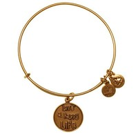 Alex and Ani Live A Happy Life Charm Bangle - Russian Gold