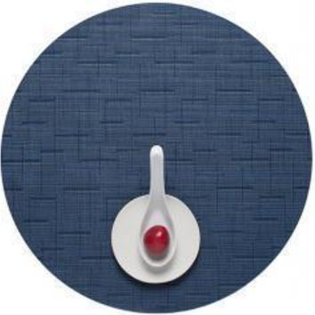 CHILEWICH Bamboo Round Placemats S/4   Lapis