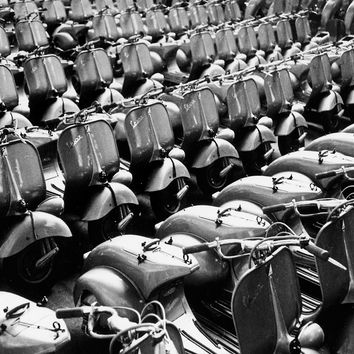 Vespa Scooter Factory Reproduction Photograph 8x10 inch