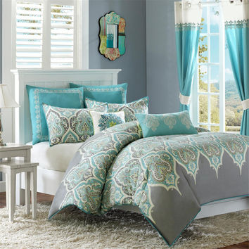 Madison Park Maya Cotton 5-piece Comforter Set Including Decorative Pillows