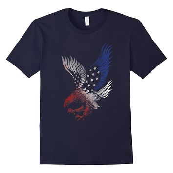 Patriotic Shirt Eagle American Red White Blue Tshirt Tee USA