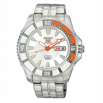 Seiko SRP201 Men's 5 Sports White Dial Stainless Steel Bracelet Automatic Watch