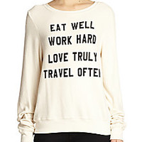 Wildfox - Mantra-Print Sweatshirt - Saks Fifth Avenue Mobile