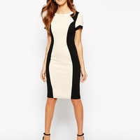 Paper Dolls | Paper Dolls Textured Pencil Dress With Contour Panel at ASOS