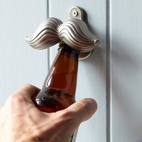 Novelty Wall-Mounted Bottle Opener, Mustache