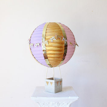 Hot Air Balloon Decorations - Up Up and Away - Baby Shower Centerpiece Decoration - It's a Small World - Nursery Decor - Baby Shower Gift
