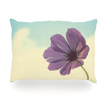 "Beth Engel ""Torn But Never Broken"" Purple Flower Oblong Pillow"