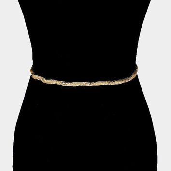 Twisted Double Metal Chain Belt