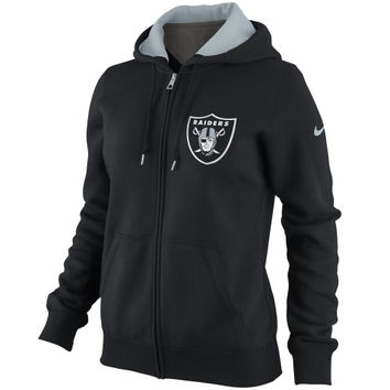 Nike Oakland Raiders Women's Tailgater Full Zip Hoodie - Black