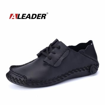 Spring Autumn Casual Mens Leather Loafers Designer Driving Shoes Fashion Oxfords Men