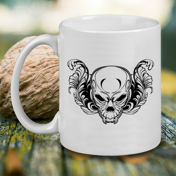 gothic deer skulls Mug, Tea Mug, Coffee Mug