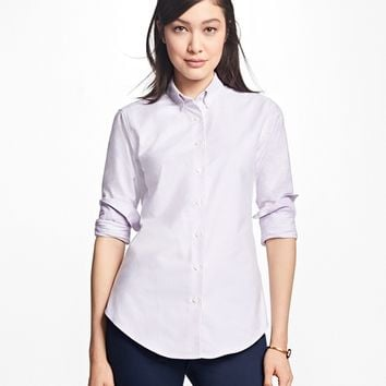 Classic-Fit Supima® Cotton Oxford Stripe Button-Down Shirt - Brooks Brothers