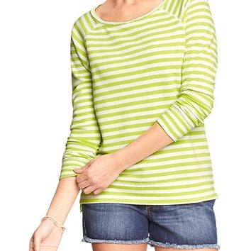 Old Navy Womens Striped Terry Fleece Pullovers Size XXL - Cool stripe
