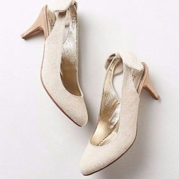 Anthropologie $148 Miss Albright Flounced Slingbacks Shoes Sz 10 M - NIB