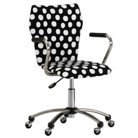 AIRGO ARMCHAIR, BLACK PAINTED DOT PRINT
