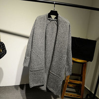 Women's Comfortable Pockets Long Knit Cardigan Sweater