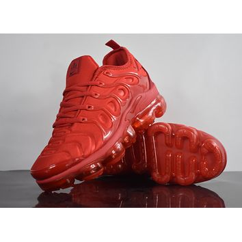 "2018 Nike Air Max Plus TN VM ""Red"" Vapormax Vapor Max Woman Fashion Running Sneakers Sport Shoes"