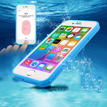 Waterproof Phone Cases For iPhone 7 6 6s Plus 5 5S SE Ultra Thin Shockproof Hybrid Rubber Soft Silicon TPU Touch Case Back Cover