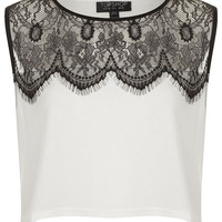 Eyelash Lace Crop Top - New In This Week - New In - Topshop