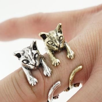 Antique Cat Ring