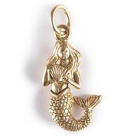 Mermaid Charm Gold or Silver