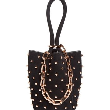 Alexander Wang Mini Roxy Studded Suede Bucket Bag | Nordstrom