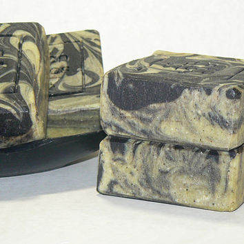 Hemp Handmade Soap with Tepezcohuite, Organic Olive OIl & Charcoal for Sensitive Skin, Dry Skin, Oily Skin, Acne, Eczema, Natural Vegan Soap