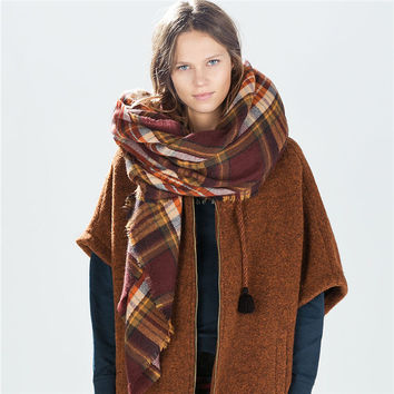 Ladies Cashmere Stripes Soft Scarf [9572828751]