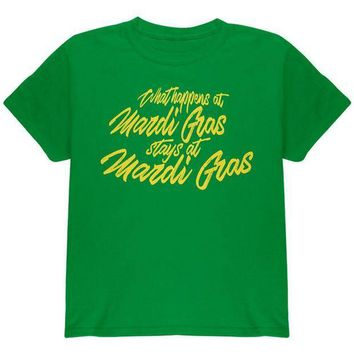 PEAPGQ9 What Happens at Mardi Gras Stays Youth T Shirt