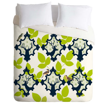 Natt Deer And Leaves Duvet Cover