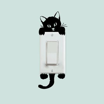 Kitty Cat Light Switch Decal