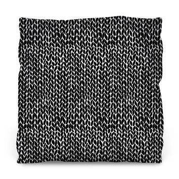 Hand Knit Outdoor Throw Pillow