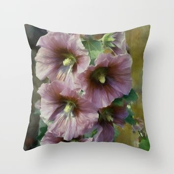 What A Holly Day Throw Pillow by Theresa Campbell D'August Art