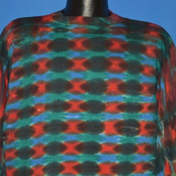90s University Tie Dye Pocket Long Sleeve t-shirt Extra Large