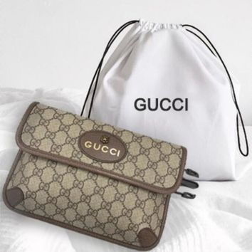 GUCCI double G tiger head ladies canvas dual-use shoulder Messenger bag chest bag waist bag backpack F/A