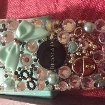Tiffany & Co inspired iPhone 4S bling cell by Blingccessorize