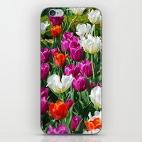 Flowers field iPhone & iPod Skin by Claude Gariepy