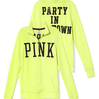 Bling Half-Zip Pullover - PINK - Victoria's Secret